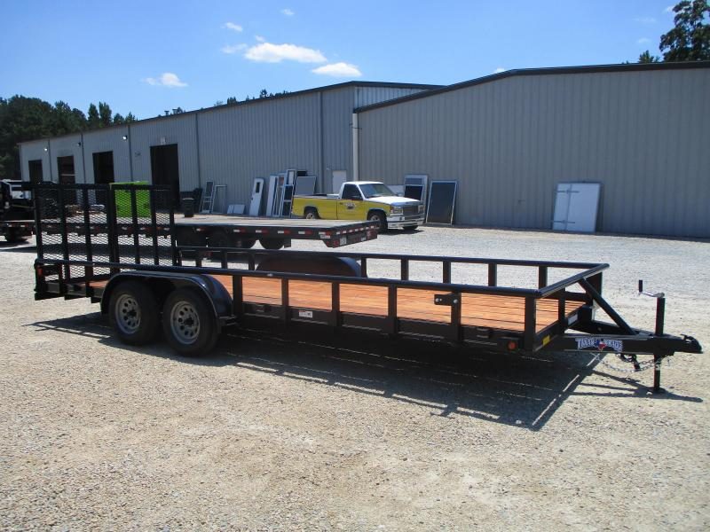 2021 Texas Bragg 20' Commercial Utility Trailer with Heavy Duty Spring Assisted Split Rear Gate