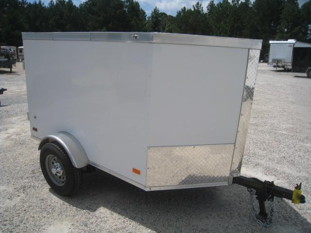 2021 Covered Wagon Trailers Gold Series 4x6 Vnose Enclosed Cargo Trailer with Swing Open Rear Door