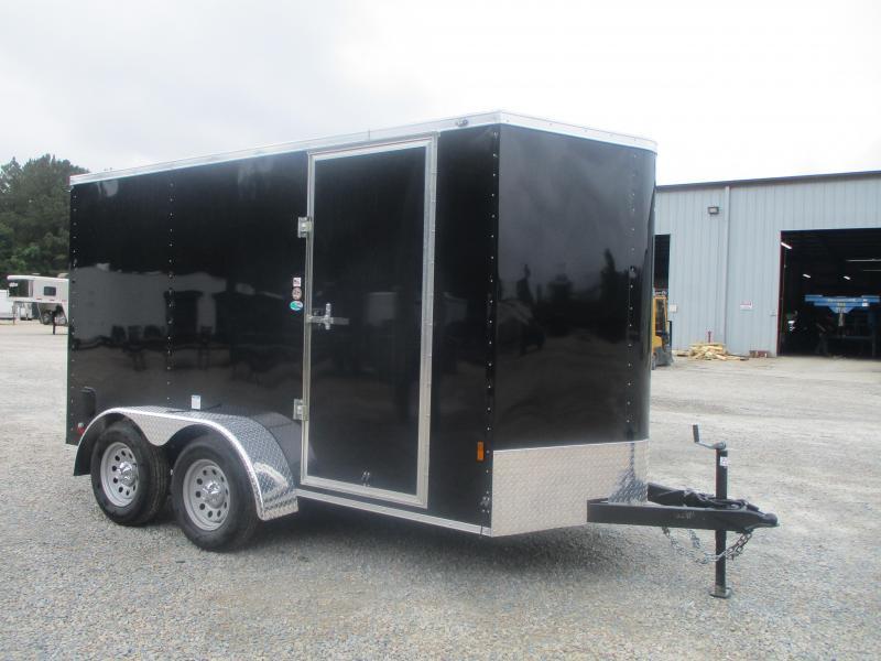 2022 Continental Cargo Sunshine 6x12 Tandem Axle Vnose Cargo Trailer with Ramp Door