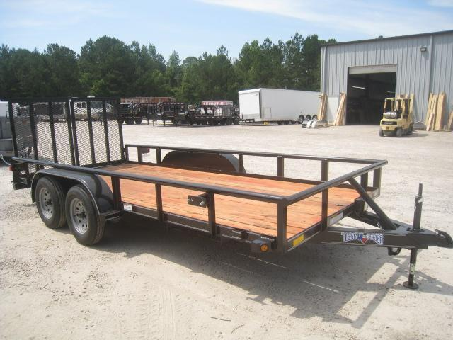2020 Texas Bragg Trailers 16' Pipe Utility Trailer with Reinforced Rear Gates