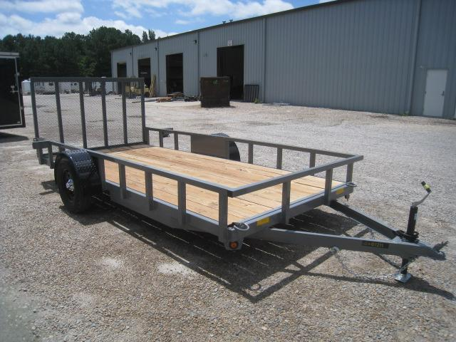 2020 Covered Wagon Trailers 77x14 Low Pro Utility Trailer with Heavy Duty Rear Gate