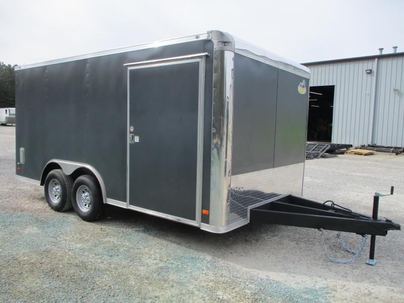 2021 Covered Wagon Gold Series 8.5x16 Race Auto Trailer with Extras