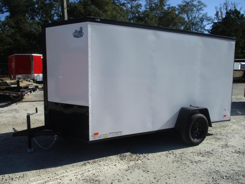 PRICE BUSTER 2021 Covered Wagon Trailers Gold Series 6x12 Vnose Enclosed Cargo Trailer with Ramp Door