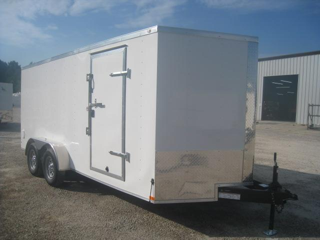 SPECIAL BUY 2020 Lark 7x16 Vnose Enclosed Cargo Trailer with Ramp Door