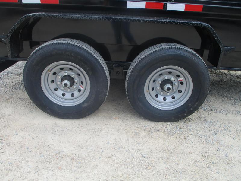 2022 PJ Trailers DL 14 x 83 Low Pro Dump Trailer with 7k Axles and Tarp