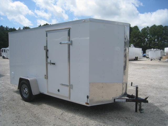 PRICE BUSTER 2021 Lark 6x12 Vnose Enclosed Cargo Trailer with Ramp Door