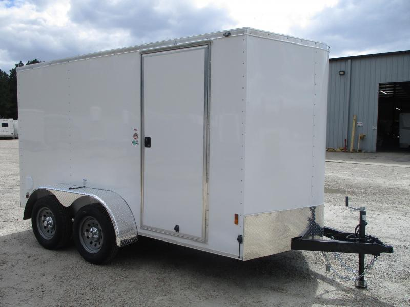 2021 Continental Cargo Sunshine 6x12 Vnose Tandem Axle Enclosed Cargo Trailer