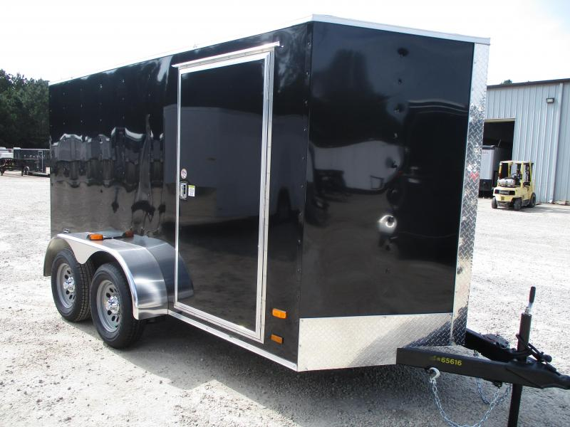 2021 Covered Wagon Trailers Silver Series 6x12 Vnose Tandem Axle Enclosed Cargo Trailer