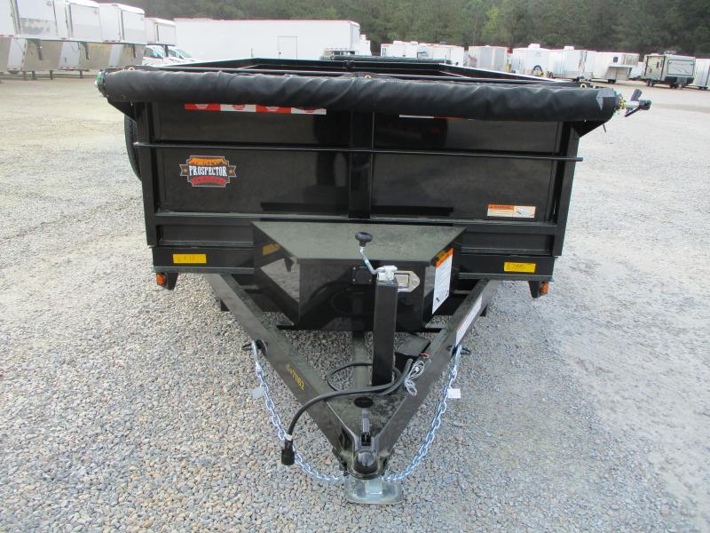 2021 Covered Wagon Trailers Prospector 6x10 Dump Trailer with 5200lb Axles