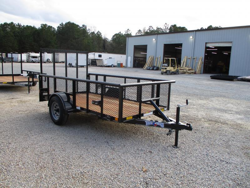 """2021 Texas Bragg Trailers 5x10P Heavy Duty Utility Trailer with 24"""" Expanded Metal Sides"""