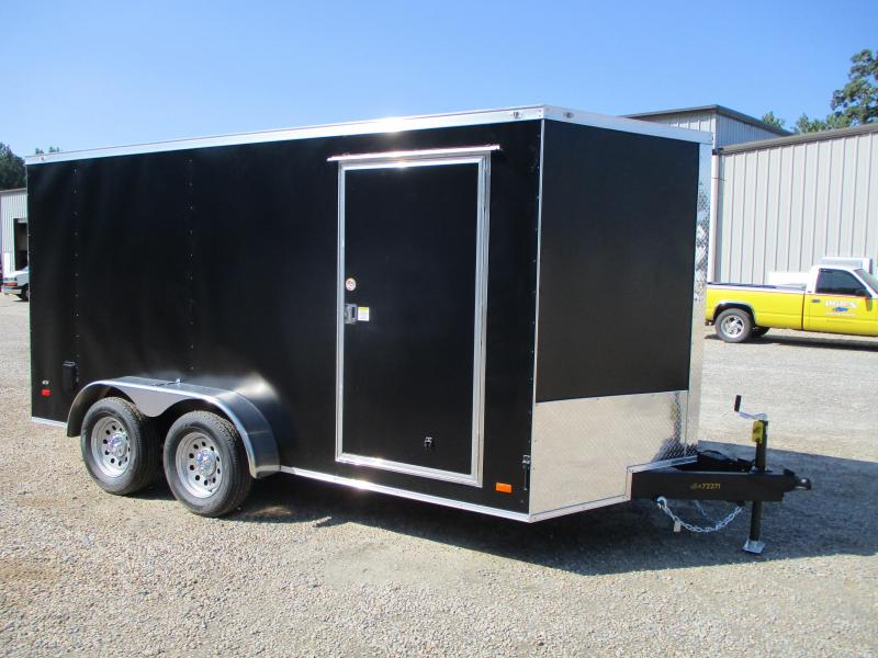 2021 Covered Wagon Gold Series 7x14 Vnose Cargo Trailer with Powdercoated Exterior