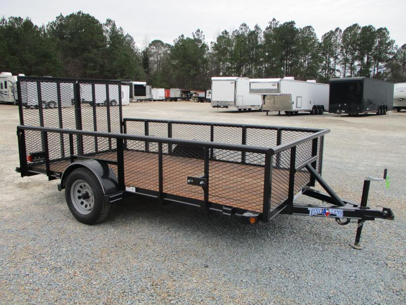 "2021 Texas Bragg Trailers 6x12P Heavy Duty Utility Trailer with 24"" Expanded Metal Sides"