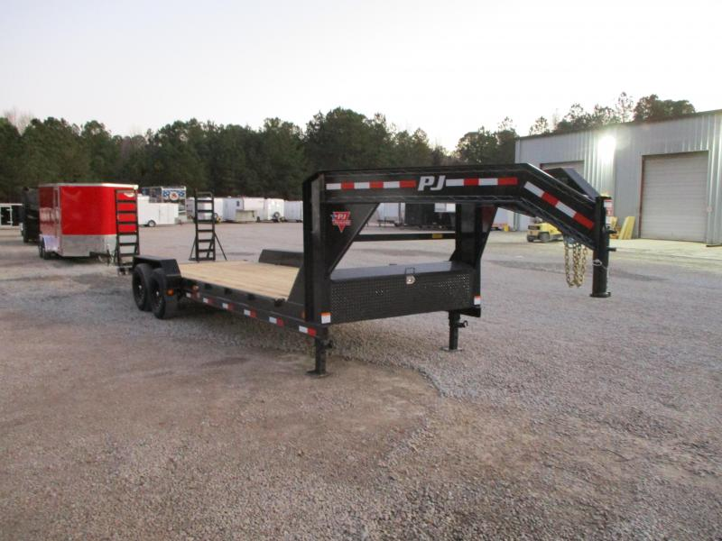 2021 PJ Trailers CC 24' Gooseneck Equipment Trailer with 7k Dexters