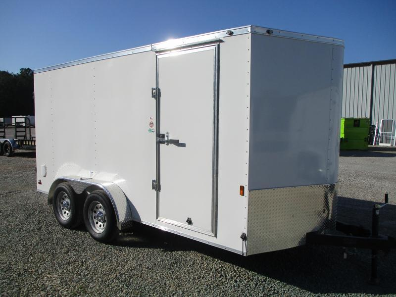 2022 Continental Cargo Sunshine 7x14 Vnose Enclosed Cargo Trailer with Double Rear Doors