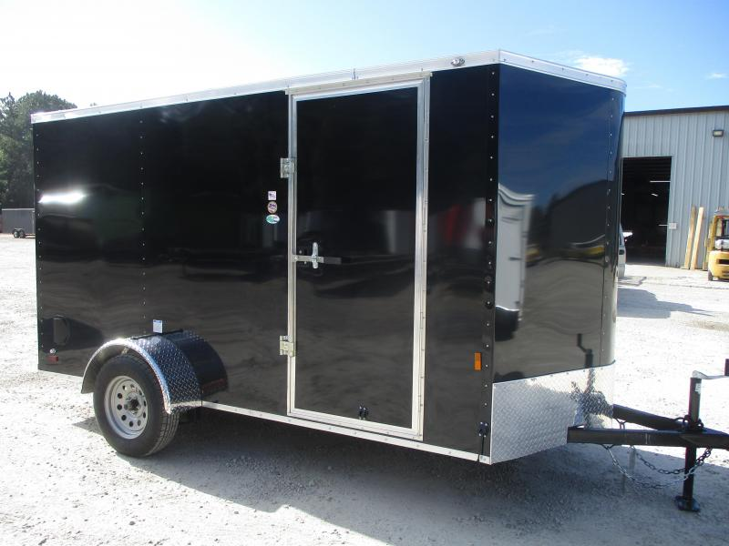2021 Continental Cargo Sunshine 6x12 Vnose Enclosed Cargo Trailer with Ramp Door