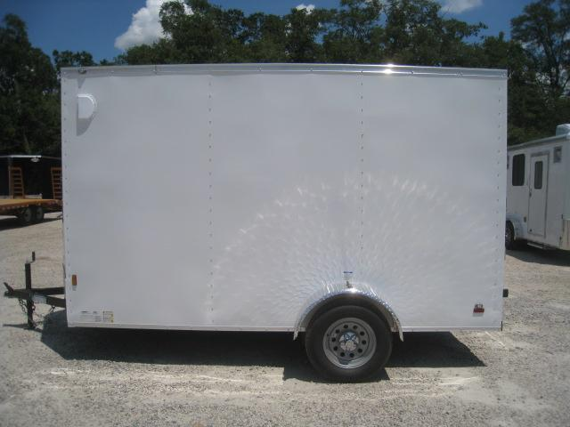 2021 Continental Cargo Sunshine 6x12 Vnose Cargo Trailer with Ramp and Extra Height