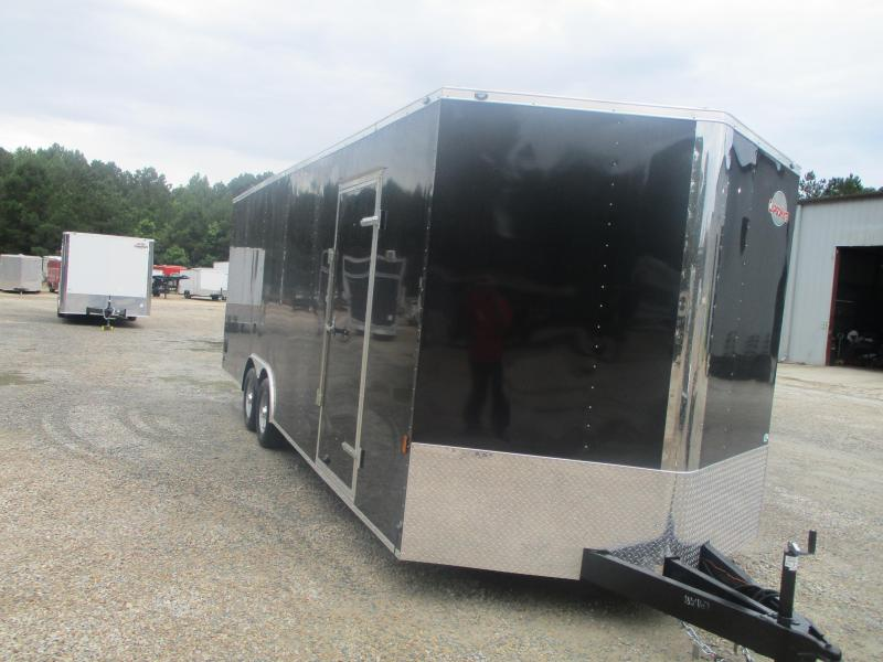 """2022 Continental Cargo Sunshine 8.5x24 Vnose Race Auto Trailer with 6"""" Extra Height"""