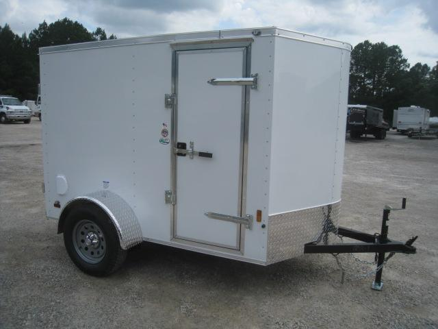 2021 Continental Cargo Sunshine 5x8 Vnose Enclosed Cargo Trailer with Double Rear Doors