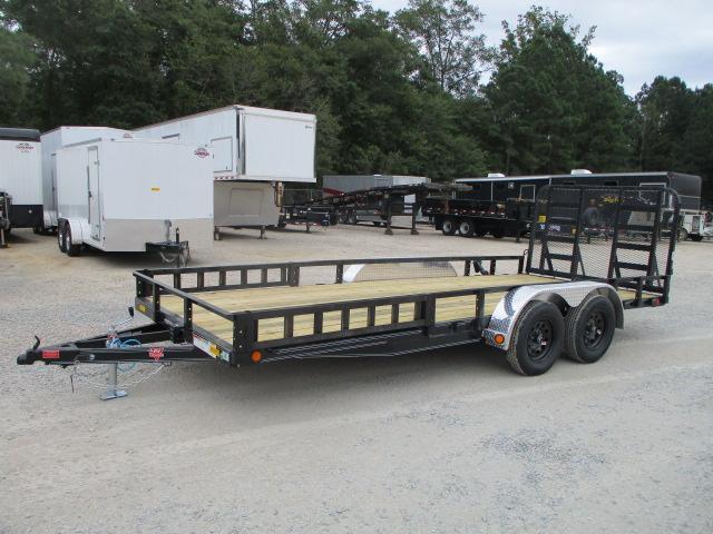"2022 PJ Trailers 83"" X 18' UL Tandem Axle Channel Utility Trailer"