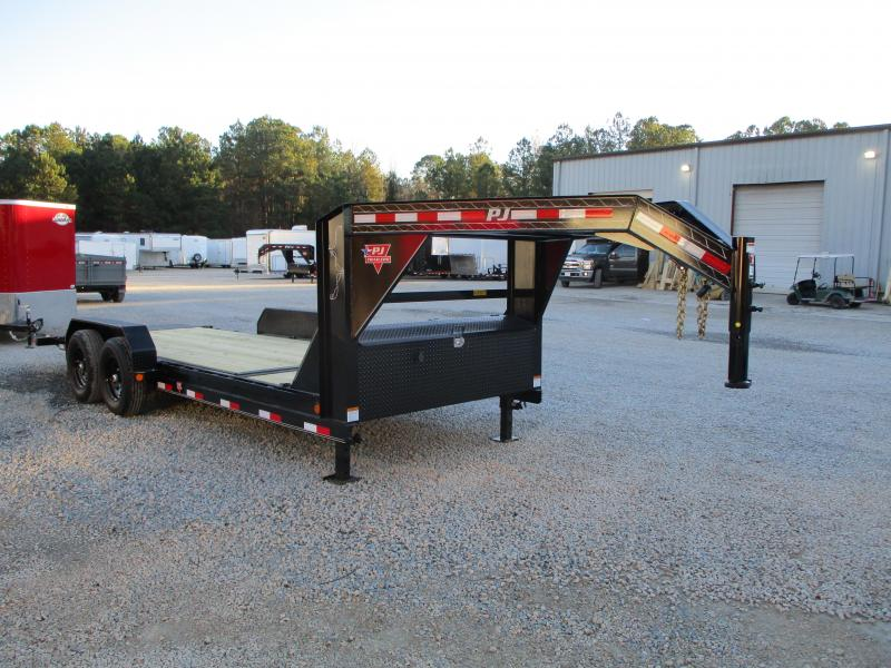 2021 PJ Trailers T6 Gooseneck 16 + 4 Tilt Bed Equipment Trailer