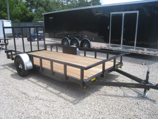 2020 Cargo Mate 77x14 Low Pro Utility Trailer with Heavy Duty Rear Gate