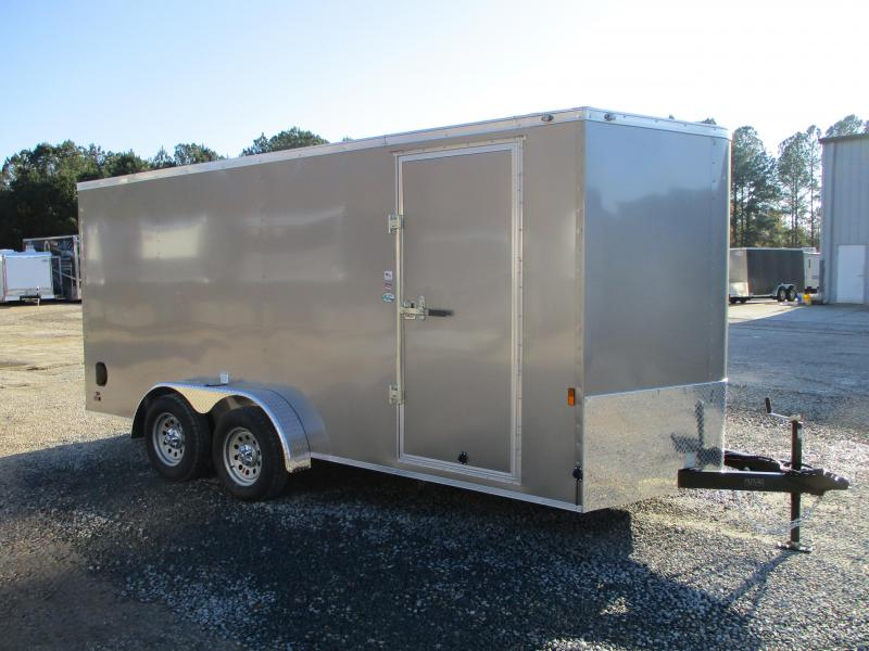 2021 Continental Cargo Sunshine 7 x 16 Vnose Enclosed Cargo Trailer with Ramp Door
