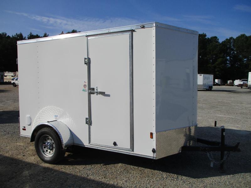 2022 Continental Cargo Sunshine 6x10 Vnose Cargo Trailer with Double Rear Doors