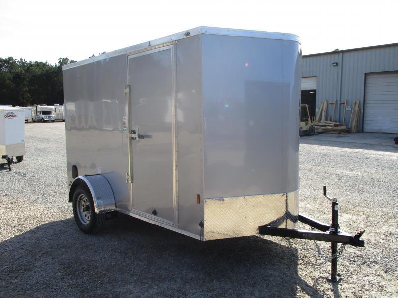 2021 Continental Cargo Sunshine 6x10 Vnose Enclosed Cargo Trailer with Ramp Door