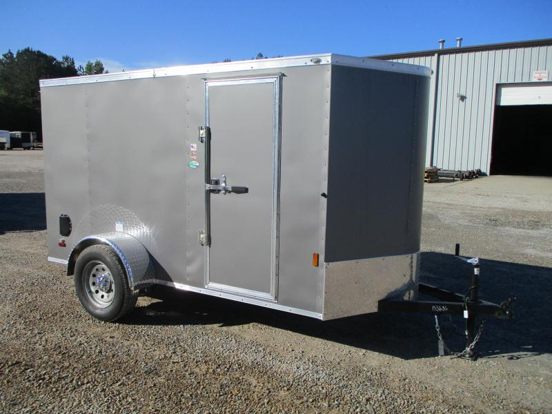 2022 Continenatl Cargo Sunshine 5x10 Vnose Cargo Trailer with Ramp Door and Side Door