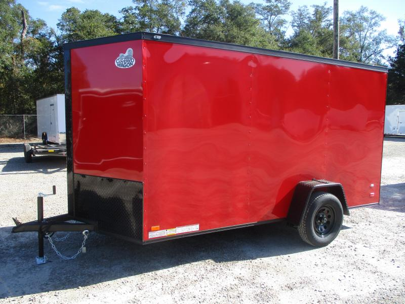 2021 Covered Wagon Trailers Gold Series 6x12 Vnose Enclosed Cargo Trailer  with Ramp Door