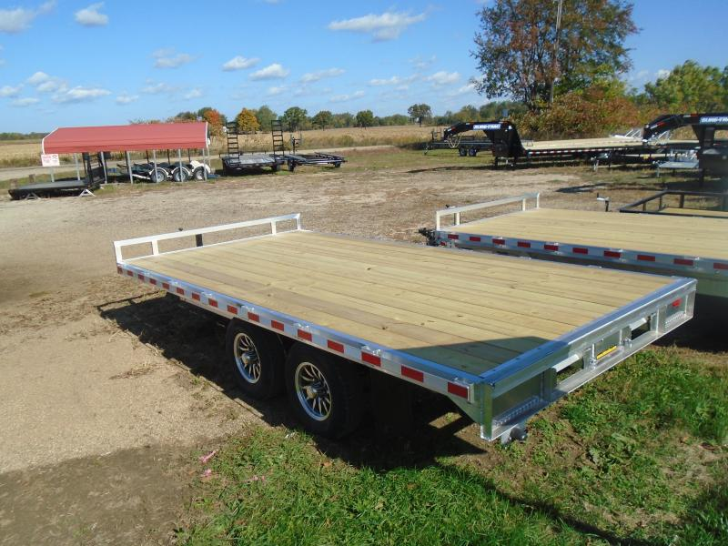 "2021 H and H Trailer 102""x 20'+4' 14k deckover Equipment Trailer"