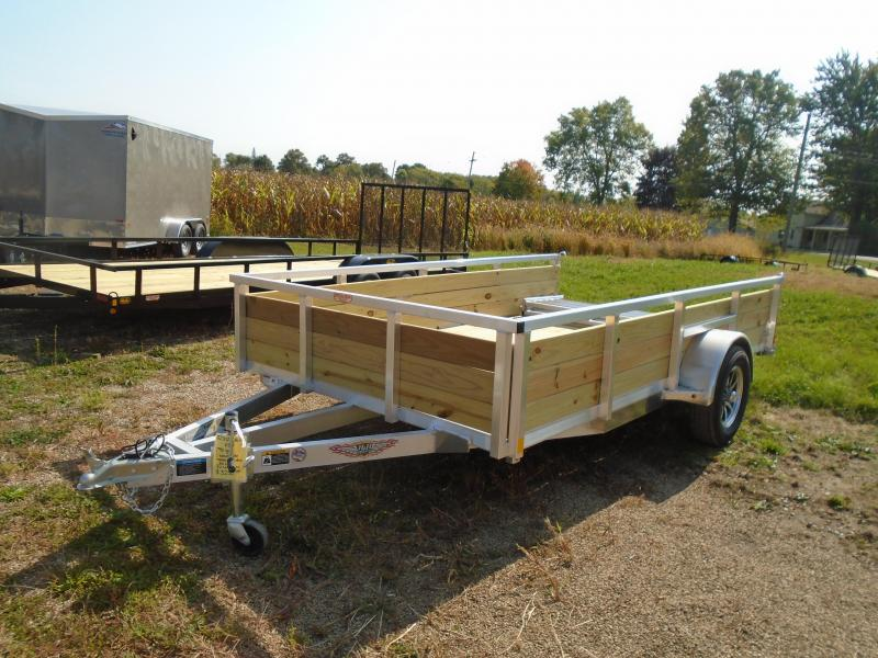 "2021 H and H Trailer 82""x12' 3 board side aluminum SA Utility Trailer"