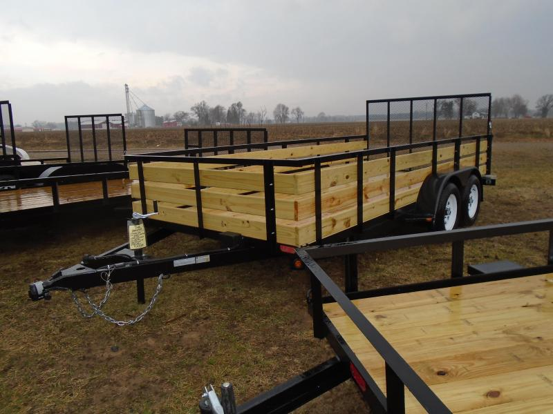2021 GE 7X16 7k 3 board side Landscape Utility Trailer
