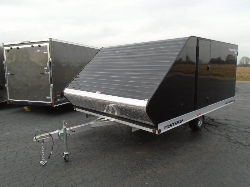 2021 Great Lakes Trailers 8x12 aluminum side by side Snowmobile Trailer