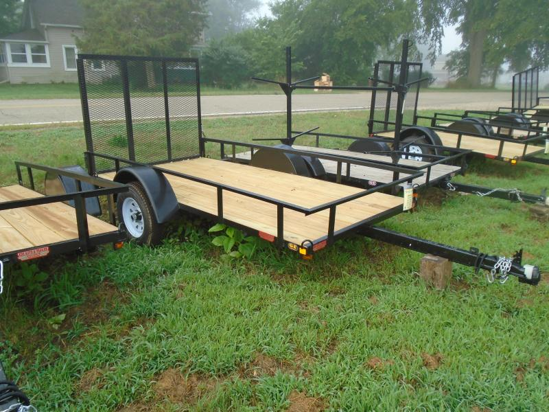 2021 GE 5x10 straight tongue light duty w/ gate Utility Trailer