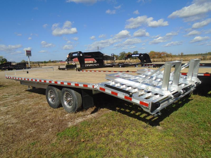"2021 H and H Trailer 102""x20'+4' 14k aluminum deckover Equipment Trailer"