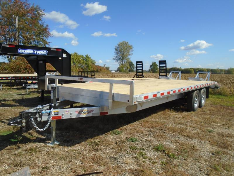 "2021 H and H Trailer 102""x20'+4' 14k aluminum deckover Equipment Trailer"