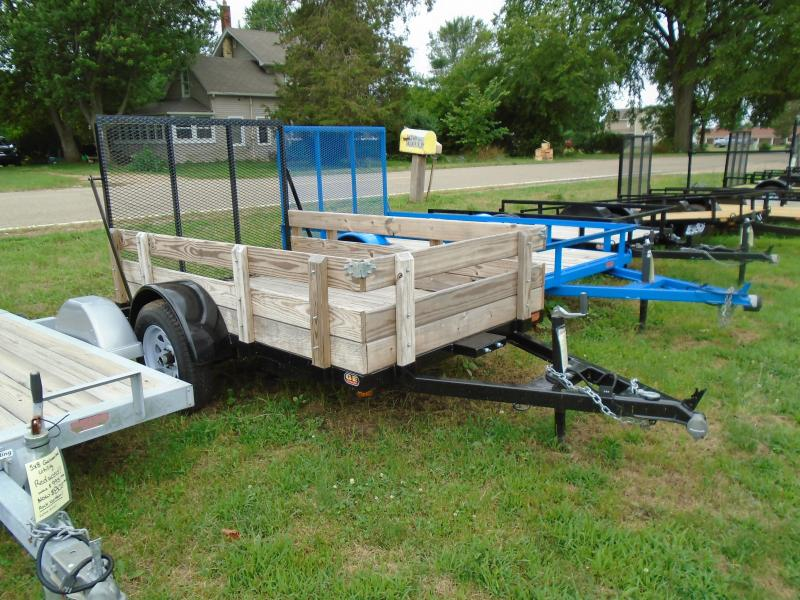 2020 GE 5x8 3 board side w/ gate Utility Trailer