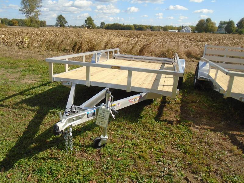"2021 H and H Trailer 82""x14' alum railside SA Utility Trailer"