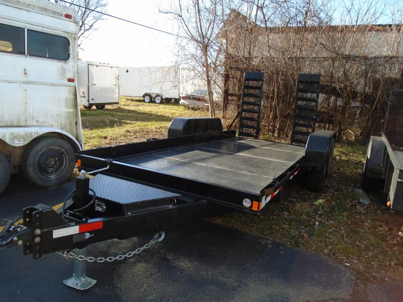 2019 Sure-Trac 16' 14k skid steer Equipment Trailer