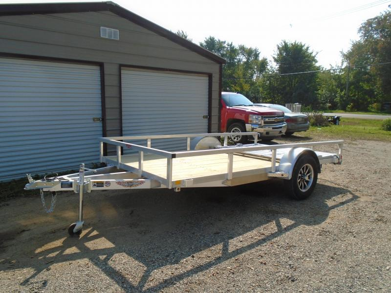 "2021 H and H Trailer 76""x12' alum railside SA Utility Trailer"