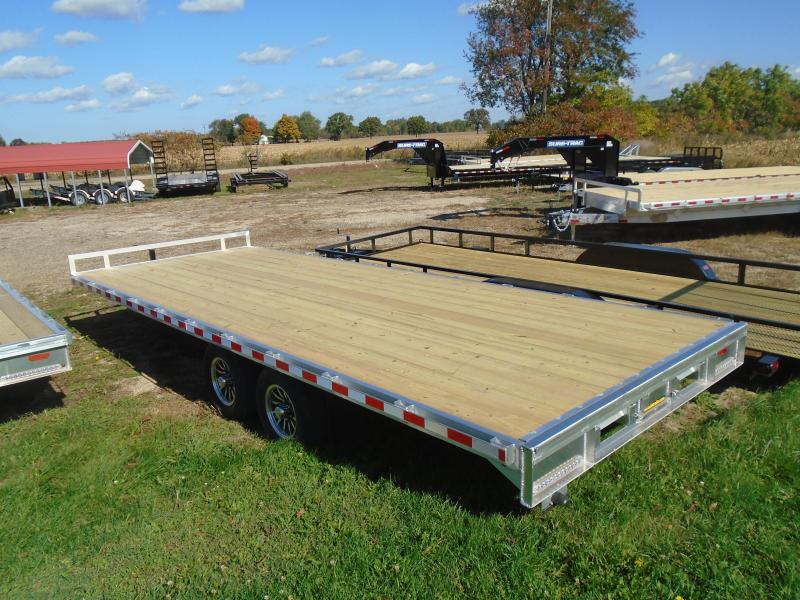 "2021 H and H Trailer 102""x22' 10k deckover Equipment Trailer"