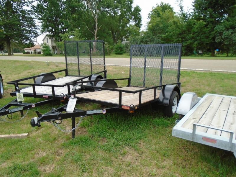 2021 GE 5x8 Light Duty A Frame  w/ Gate Utility Trailer