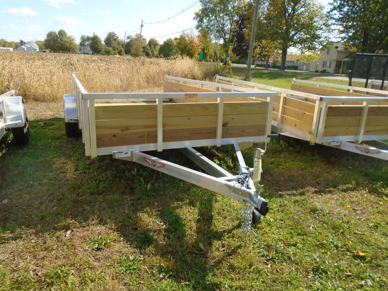 "2021 H and H Trailer 82""x14' 3 board side alum Utility Trailer"