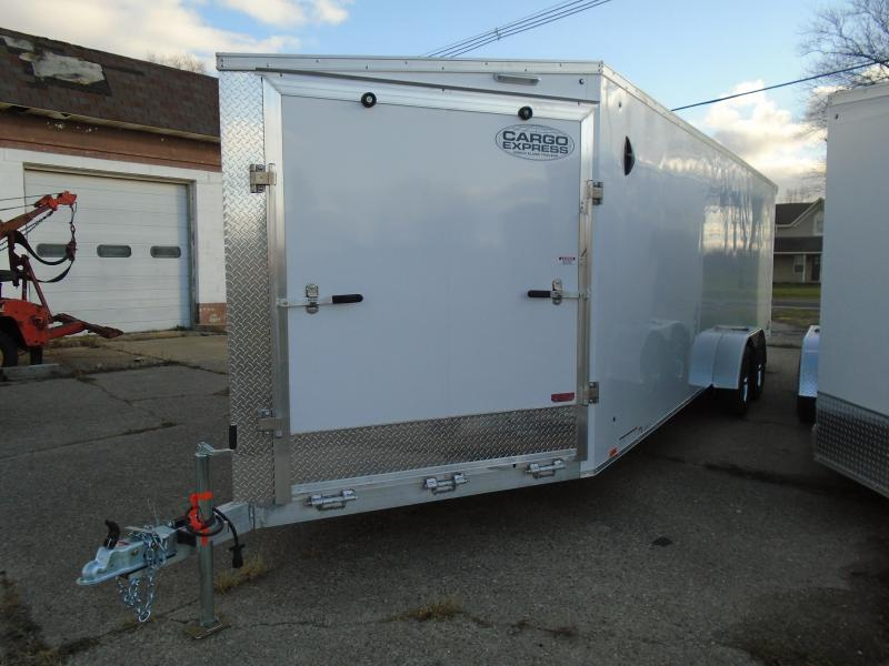 2021 Cargo Express 7x29 7k AX Series Snowmobile Trailer