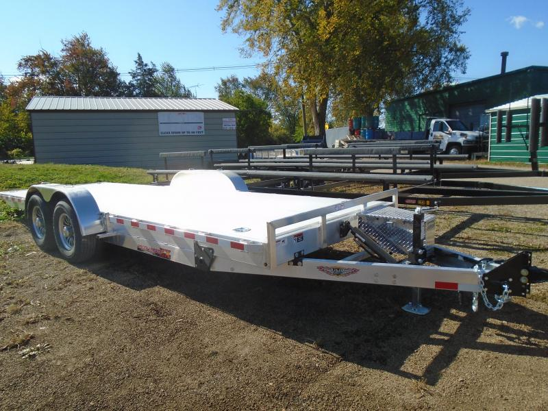 "2021 H and H Trailer 82""x22' All Aluminum power 14k speedloader Equipment Trailer"