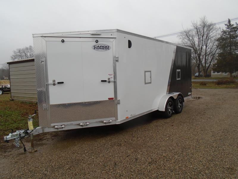 2021 Cargo Express 7x23 7k AX Series Snowmobile Trailer