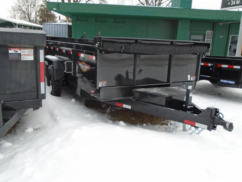 2021 H and H Trailer 14' 14k scissor Dump Trailer