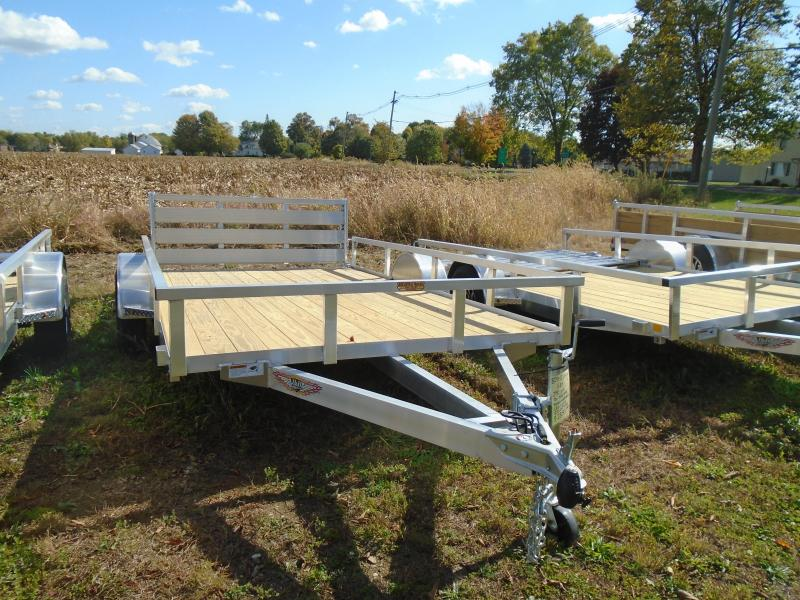 "2021 H and H Trailer 82""x12 Alum. Railside SA Utility Trailer"