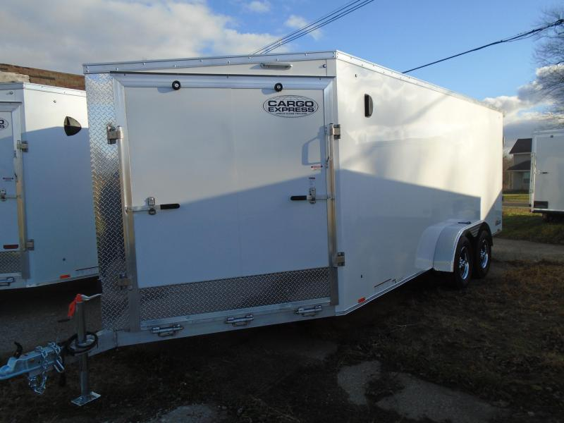 2021 Cargo Express 7x23 AX Series 7k Snowmobile Trailer